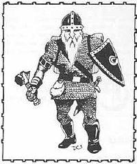 Portrait of Larry's dwarven fighter, Thorfus