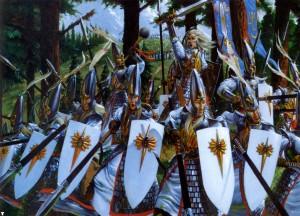 High Elf Warriors, by Adrian Smith