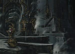 Dwemer Cavern Concept Art (Elder Scrolls V: Skyrim)