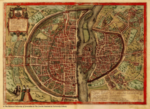 Map of Paris (1569)
